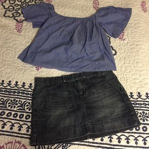 Skirts - Denim limited edition skirt and express top